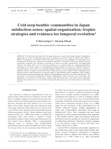 Cold seep benthic communities in Japan subduction zones: spatial