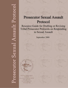Prosecutor Protocol Guide: Sexual Assault