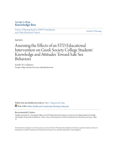 Assessing the Effects of an STD Educational