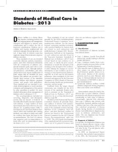 Standards of Medical Care in Diabetes - Diabetes Care