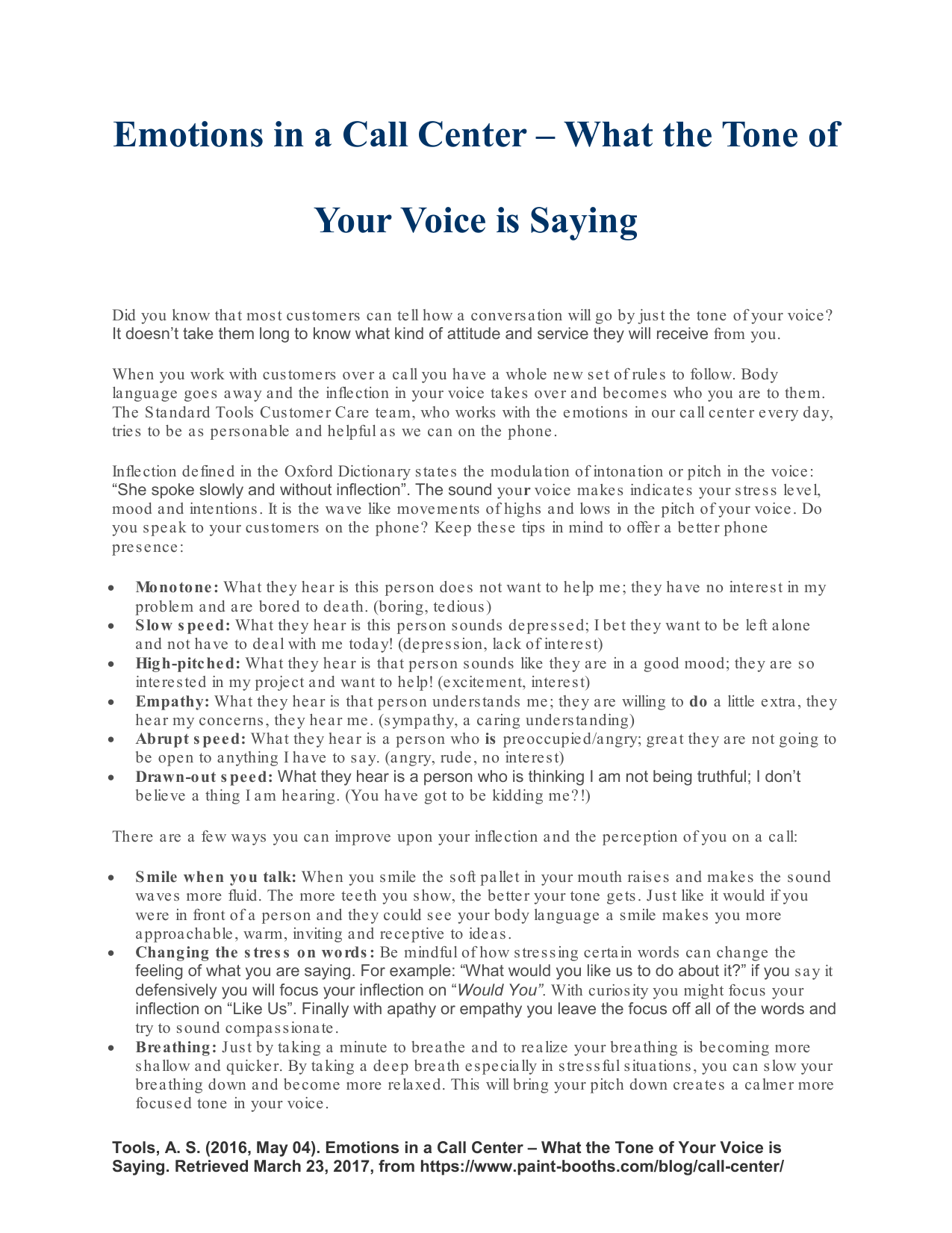 Emotions in a Call Center – What the Tone of Your Voice is