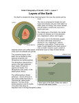Unit 3 Lesson 1 Layers of the Earth