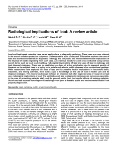 Radiological implications of lead: A review article