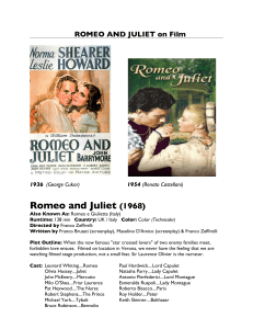 ROMEO AND JULIET on Film - Emporia State University