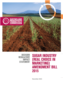 Sugar Industry (Real Choice in Marketing)