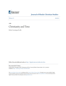 Christianity and Time - Digital Commons @ Butler University