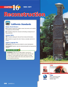 Reconstruction - Chino Valley Unified School District