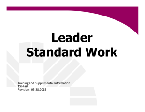 Leader Standard Work - Fisher College of Business