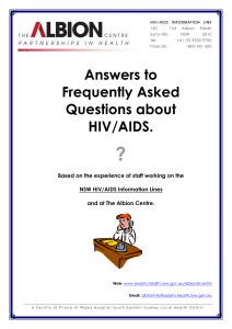 HIV FAQ - The Albion Centre