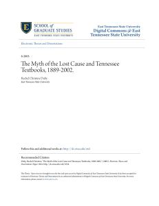 The Myth of the Lost Cause and Tennessee Textbooks, 1889