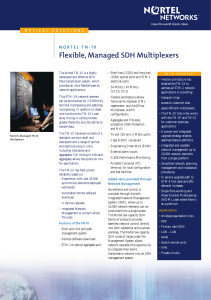 Flexible, Managed SDH Multiplexers