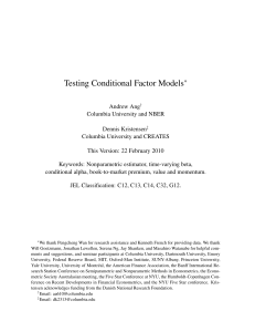 Testing Conditional Factor Models