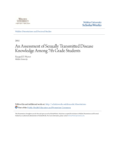 An Assessment of Sexually Transmitted Disease