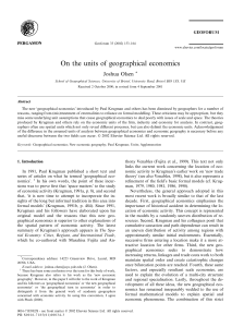 On the units of geographical economics