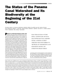 The Status of the Panama Canal Watershed and Its Biodiversity at