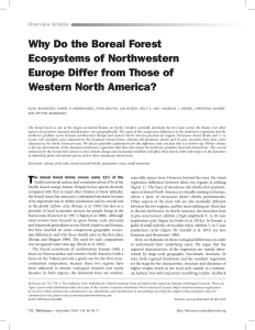 Why Do the Boreal Forest Ecosystems of Northwestern Europe Differ