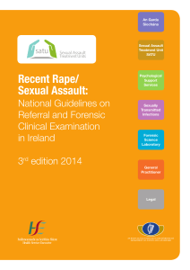 Recent Rape Sexual Assault National Guidelines