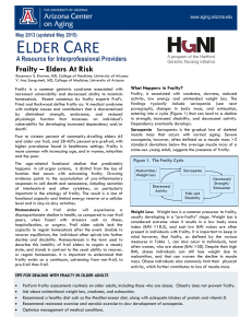 Frailty – Elders At Risk - College of Nursing and Health Innovation