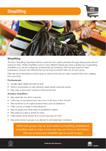 Shoplifting - signs and prevention
