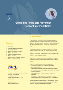 Guidelines for Malaria Prevention Onboard Merchant Ships
