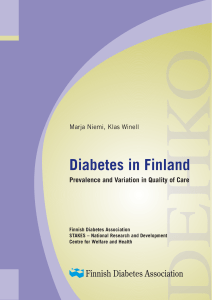 Diabetes in Finland Prevalence and Variation in Quality of Care