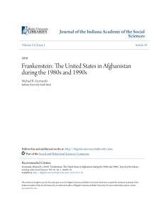 Frankenstein: The United States in Afghanistan during the 1980s