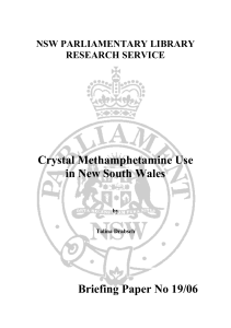 Crystal Methamphetamine Use in New South Wales
