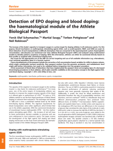 Detection of EPO doping and blood doping: the haematological