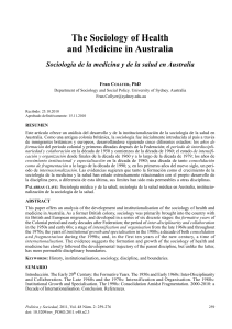 the Sociology of Health and Medicine in Australia