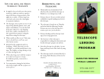 Telescope Lending Program brochure - Hamilton