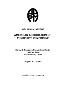 American Association of Physicists in Medicine 40th Annual
