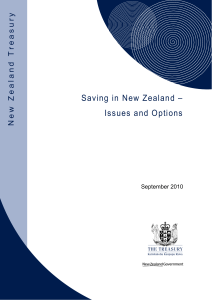 Saving in New Zealand - Issues and Options
