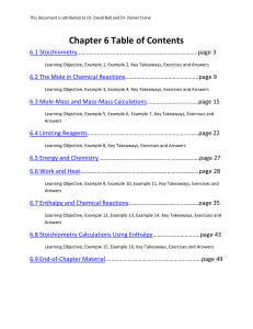 Chapter 6 Table of Contents