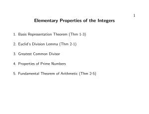 Elementary Properties of the Integers