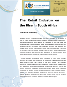The Retail Industry on the Rise in South Africa