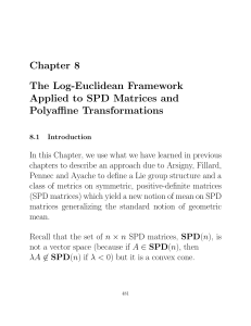 Chapter 8 The Log-Euclidean Framework Applied to