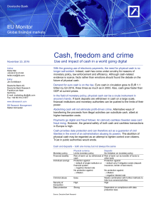 Cash, freedom and crime: Use and impact of cash in