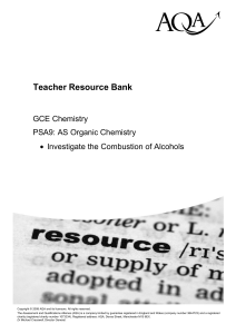 A-level Chemistry Task Task: PSA09 - Investigate the
