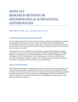 Research Methods in Archaeology + Biological Anthropology