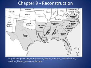 Chapter 9 - Reconstruction
