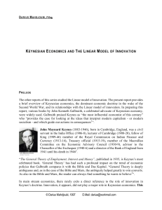 keynesian economics and the linear model of innovation
