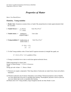 PROPERIES OF MATTER HANDOUTS AND PROBLEMS