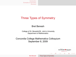 Three Types of Symmetry
