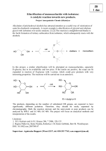 Etherification of monosaccharide with isobutene: A - chem