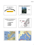 Europe`s Physical Geography