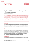 Update: U.S. Department of Transportation Advertising Guidelines