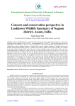Concern and conservation perspective in Laokhowa Wildlife