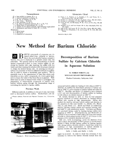 New Method for Barium Chloride