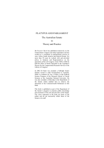 Publication: Platypus and Parliament