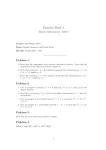 Exercise Sheet 1